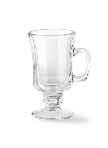 Sigma Sigma Glass Irish Coffee Kulplu Latte Bardağı 6 Adet Renkli